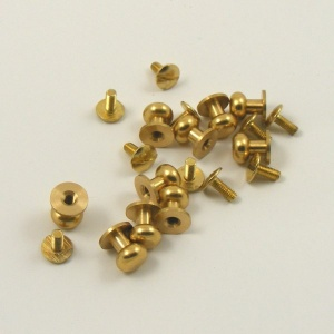 Wide Sam Browne Stud - Brass - Pack of 10